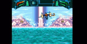 The ocean world level takes place above the surface in stage I and below it in stage II.