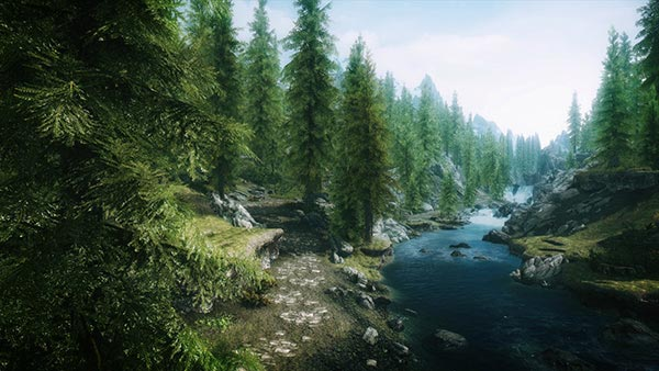 Admittedly, the scenery in Skyrim looks rather lovely.