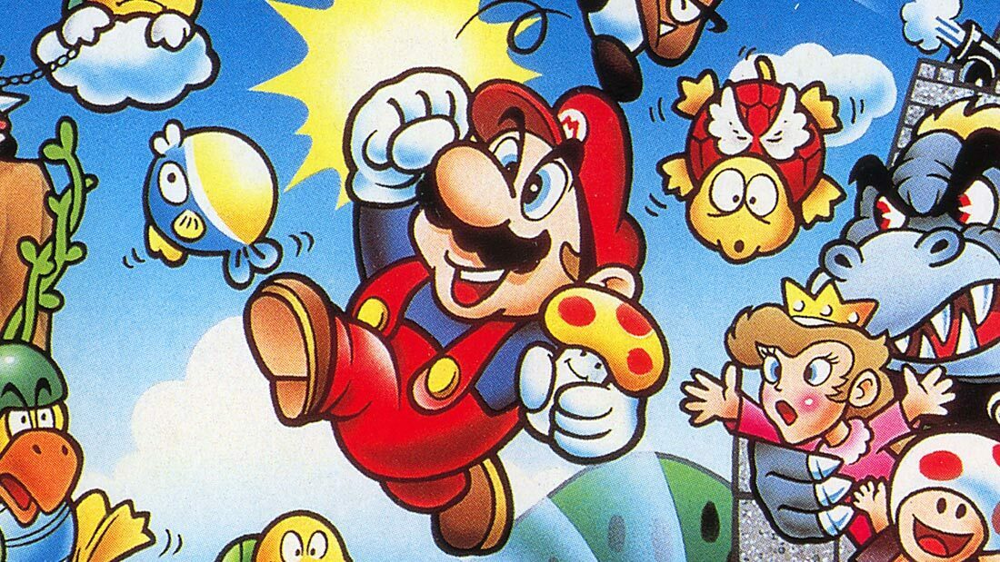 8-bit Era Super Mario Bros. Artwork Banner