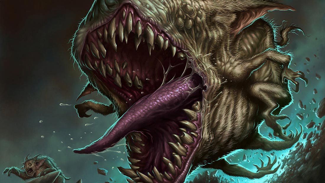 Card Game Flavour Text Artwork Banner of Doomgape from Magic: The Gathering