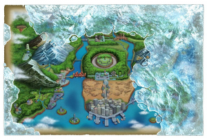 By the time Version 2's story begins, the original map of Unova has been afflicted by a severe blizzard...