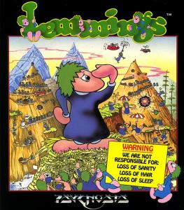 Lemmings Amiga Box Art