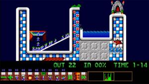 'Nowhere but up' - a custom level created for Lemmini using the Sega Game Gear's tile set.