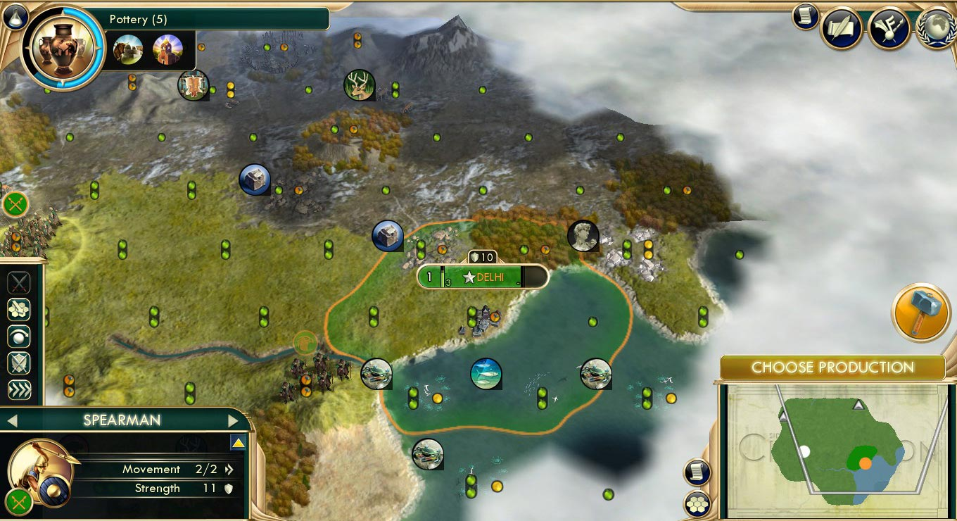 civ v how to choose what you get from ruins