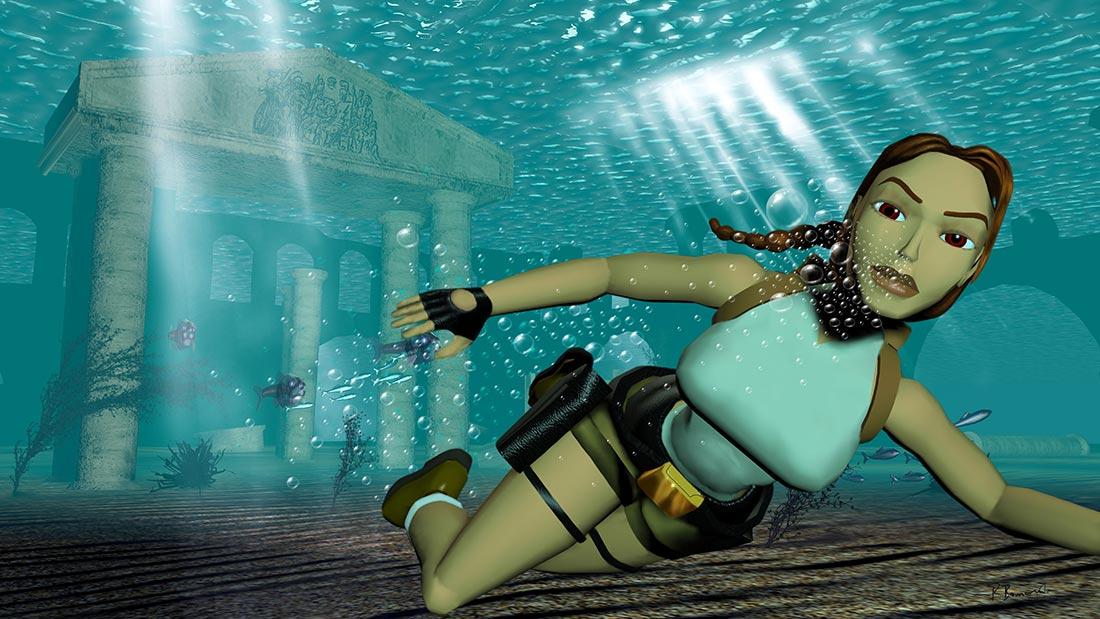 32-bit Era Tomb Raider Artwork Banner
