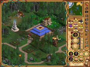 Each game map is vibrant and full of colour, but they can also be visually busy and tough to navigate. Many fans to this day consider the art direction in Heroes IV to be underwhelming at best.