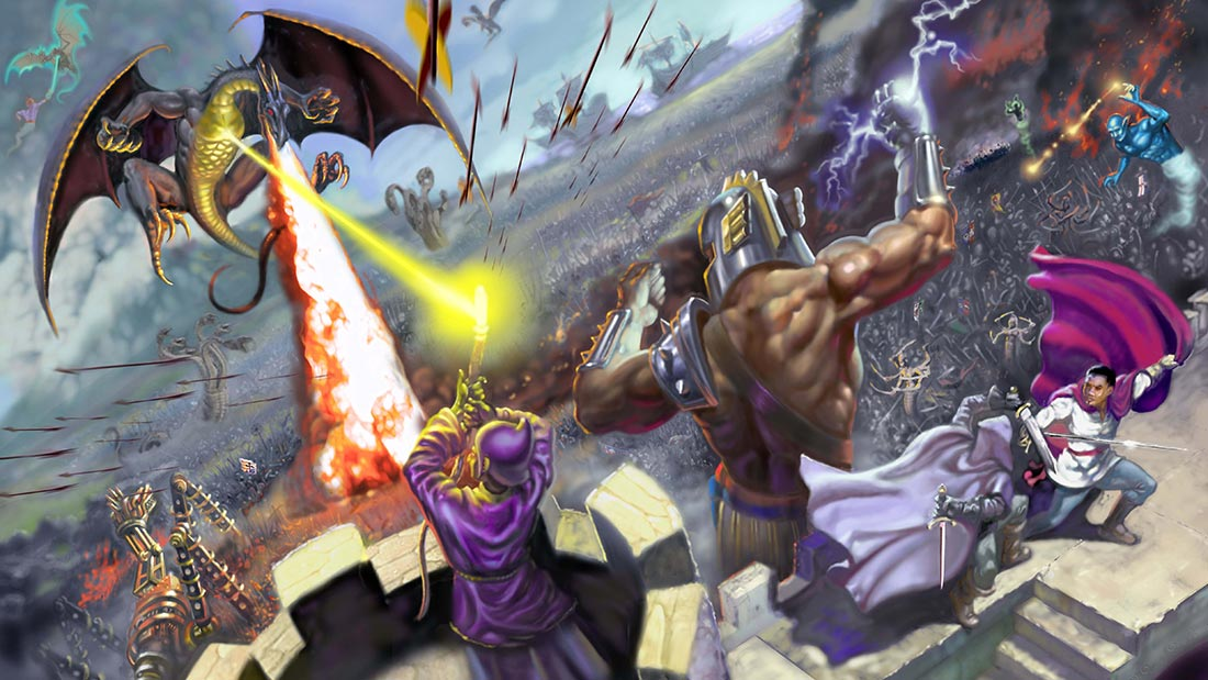 Heroes of Might and Magic IV Artwork Banner
