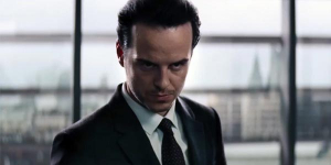 """Whilst his performance is fine, Andrew Scott's merest appearance might as well come with a giant sign that reads """"HE'S EVIL."""""""
