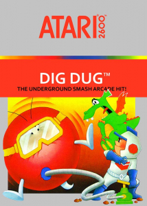 Dig Dug Atari 2600 Box Art