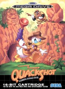 QuackShot Starring Donald Duck Sega Mega Drive Box Art