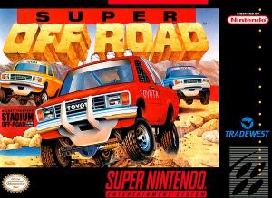 3 player video games Super Off Road SNES Box Art