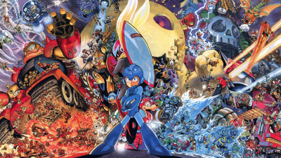 CelJaded Top 100 Video Game Bosses Mega Man Artwork Banner