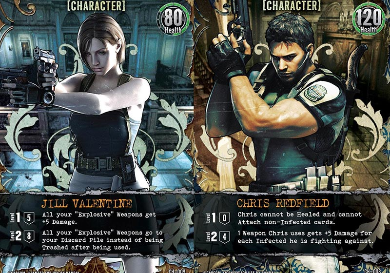 Resident Evil Deck Building Game Character Cards