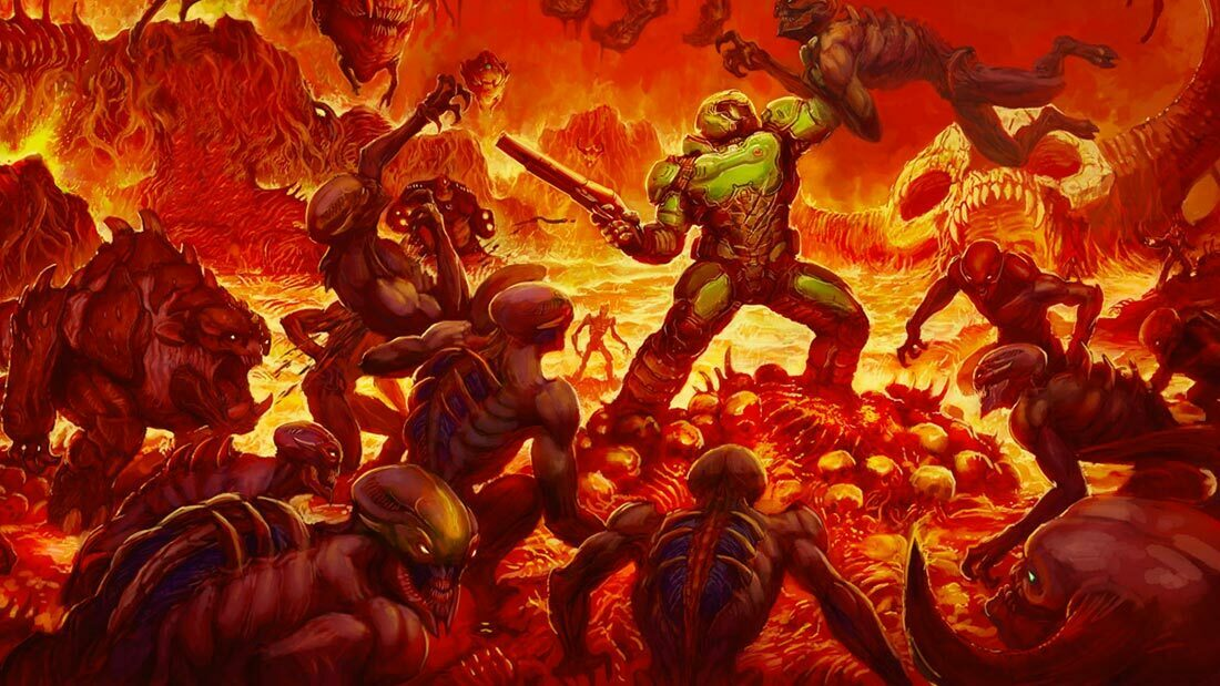CelJaded Top 100 Video Game Bosses DOOM Artwork Banner