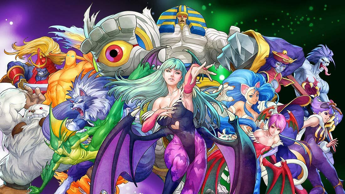 Top 100 Video Game Bosses Darkstalkers Artwork Banner