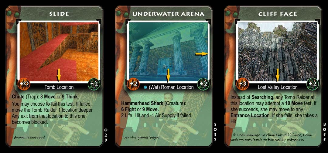 Tomb Raider CCG Collectible Card Game Cards
