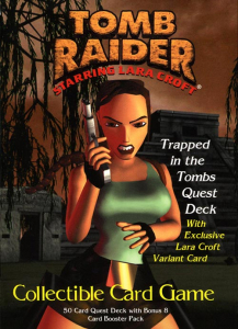 Tomb Raider CCG Collectible Card Game Quest Deck