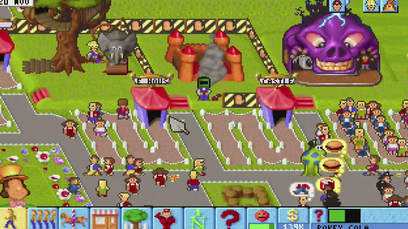 Theme Park Retrospective Gameplay Screenshot