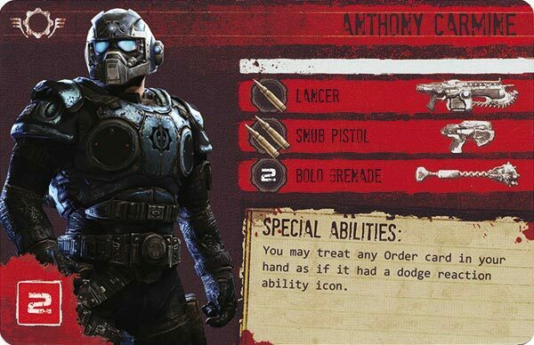 Gears of War The Board Game Custom COG Pack 1 Anthony Carmine