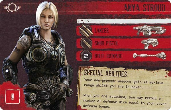 Gears of War The Board Game Custom COG Pack 1 Anya Stroud