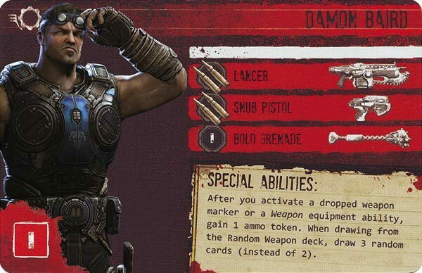 Gears of War The Board Game Custom COG Pack 1 Damon Baird