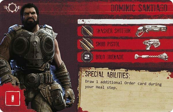 Gears of War The Board Game Custom COG Pack 1 Dominic Santiago
