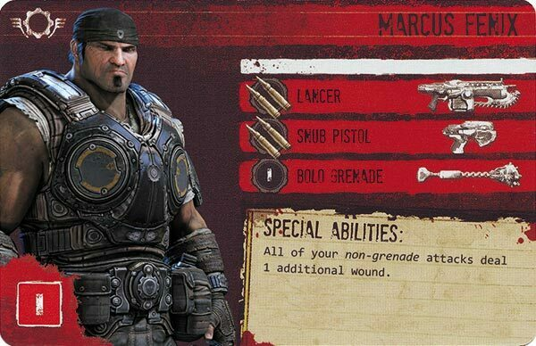 Gears of War The Board Game Custom COG Pack 1 Marcus Fenix