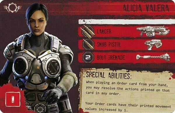 Gears of War The Board Game Custom COG Pack 2 Alicia Valera