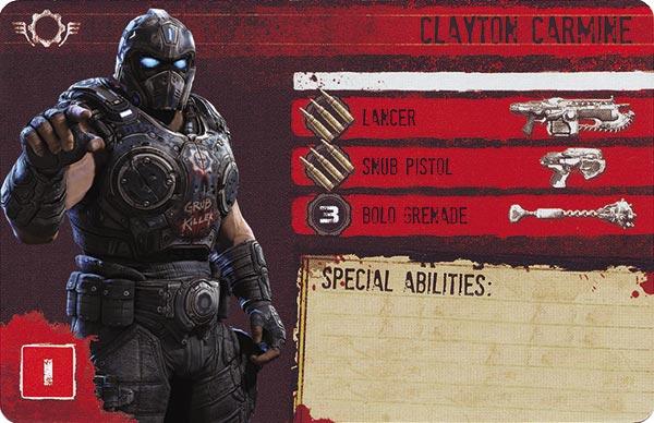 Gears of War The Board Game Custom COG Pack 2 Clayton Carmine