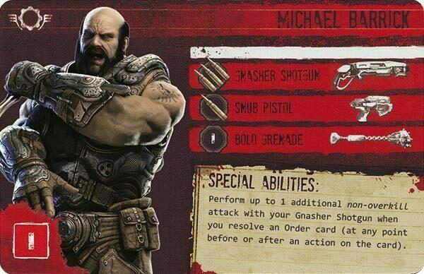 Gears of War The Board Game Custom COG Pack 2 Michael Barrick