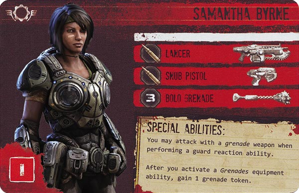 Gears of War The Board Game Custom COG Pack 2 Samantha Byrne