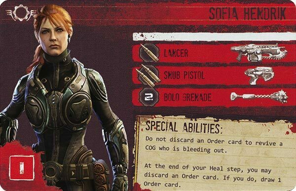 Gears of War The Board Game Custom COG Pack 2 Sophia Hendrik
