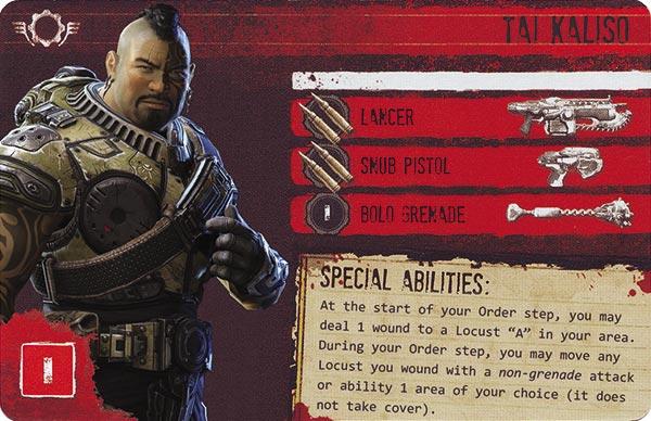 Gears of War The Board Game Custom COG Pack 2 Tai Kaliso
