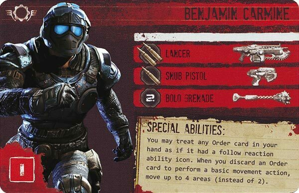 Gears of War The Board Game Custom COG Pack 3 Benjamin Carmine