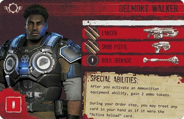 Gears of War The Board Game Custom COG Pack 3 Delmont Walker