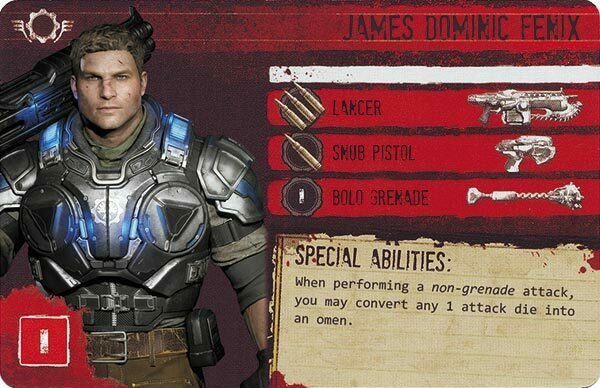 Gears of War The Board Game Custom COG Pack 3 James Dominic Fenix