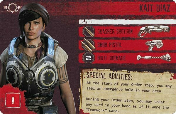 Gears of War The Board Game Custom COG Pack 3 Kat Diaz