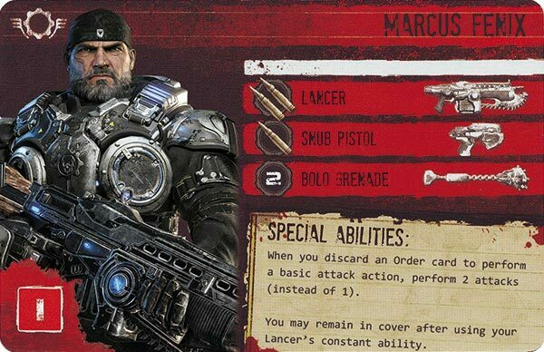 Gears of War The Board Game Custom COG Pack 3 Marcus Fenix