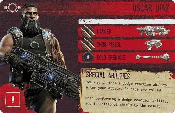 Gears of War The Board Game Custom COG Pack 3 Oscar Diaz