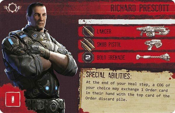 Gears of War The Board Game Custom COG Pack 3 Richard Prescott