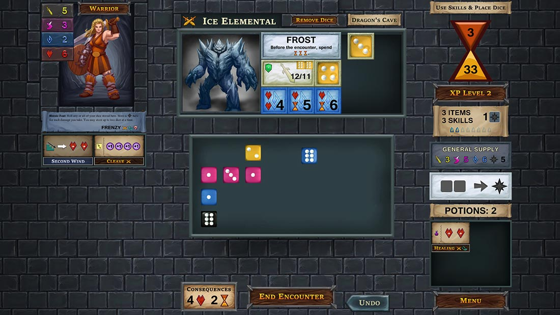 One Deck Dungeon Digital Gameplay Screenshot