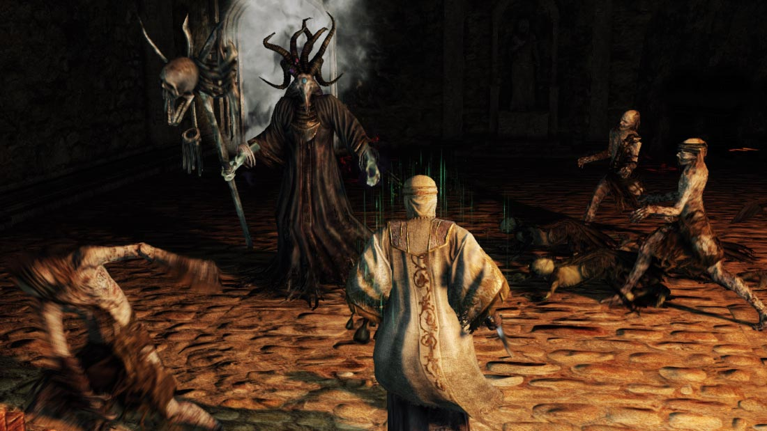 The World of Dark Souls II Prowling Magus and Congregation