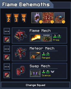 Into the Breach Squad Tier List Flame Behemoths