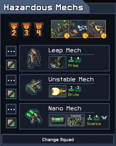 Into the Breach Squad Tier List Hazardous Mechs
