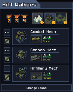 Into the Breach Squad Tier List Rift Walkers