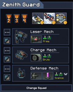 Into the Breach Squad Tier List Zenith Guard