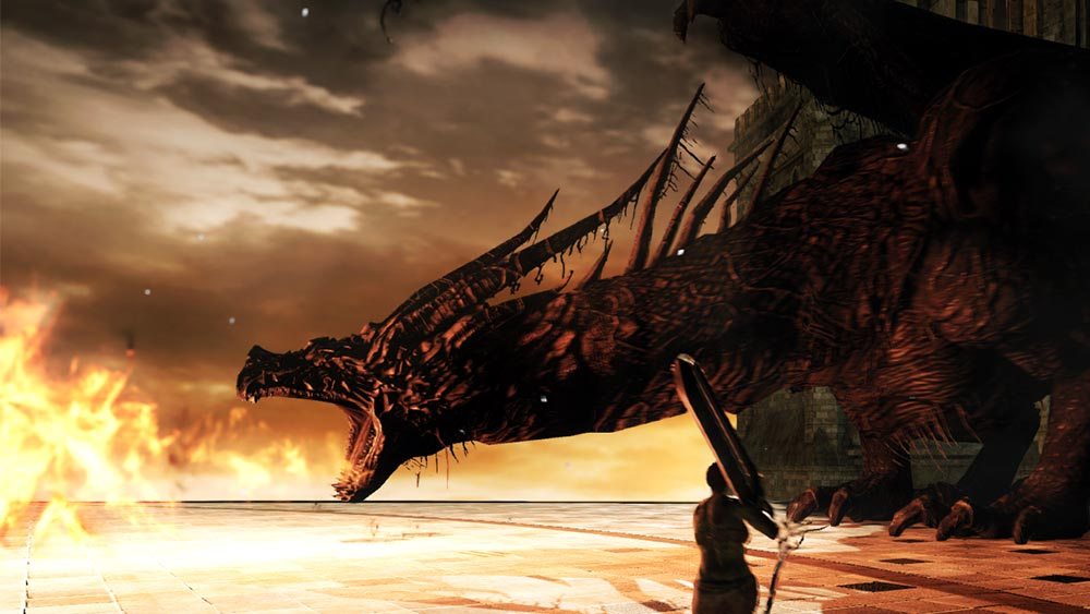 The World of Dark Souls II Ancient Dragon