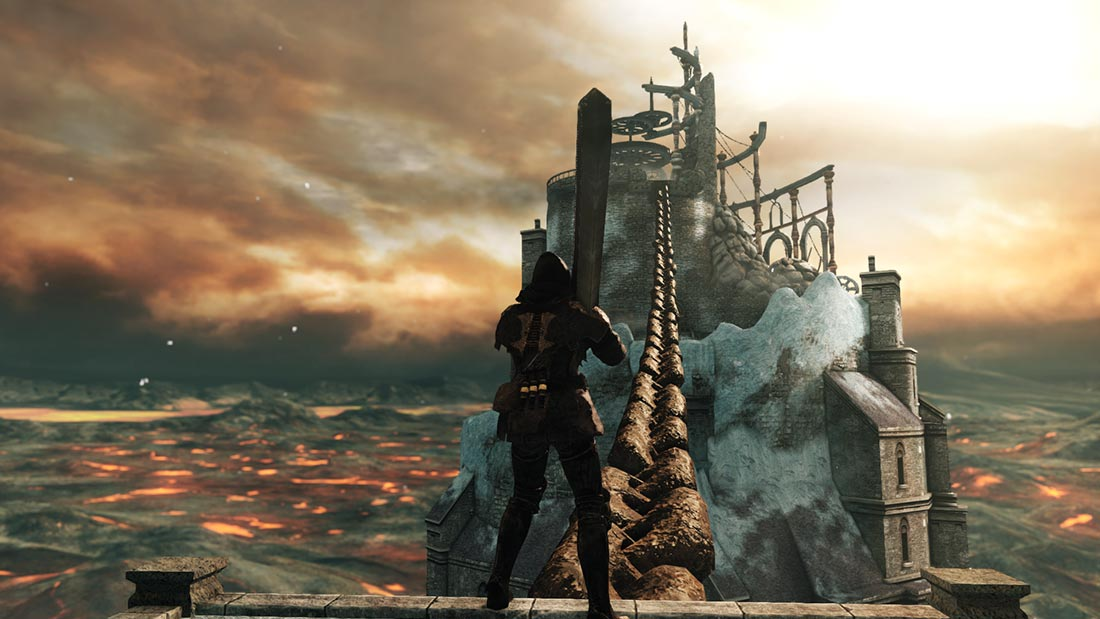 The World of Dark Souls II Crown of the Old Iron King Brume Tower