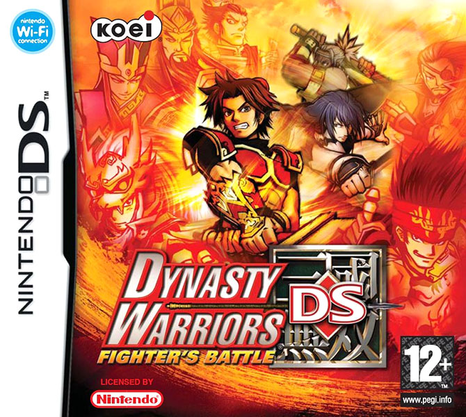 Dynasty Warriors DS: Fighter's Battle PAL Box Art
