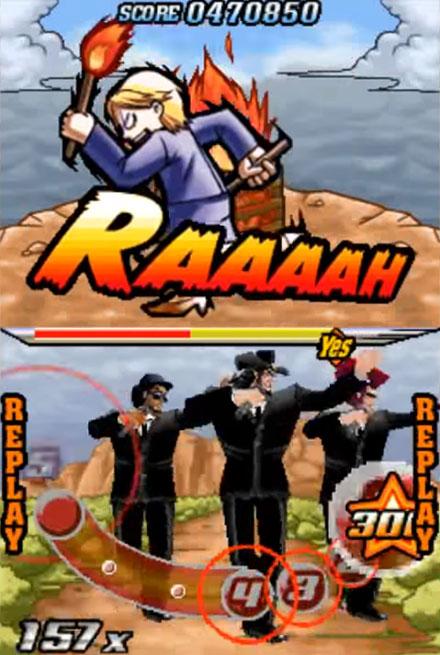 Elite Beat Agents Gameplay Screenshot